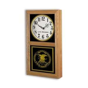 #814    Chesapeake Wood Wall Clock   9 H x 16 1/2W