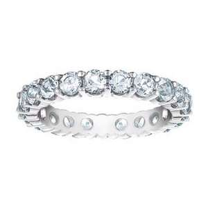 True Romance Eternity White Topaz & Sterling Silver Prong Set Ring