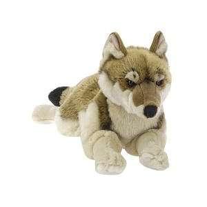 FAO Schwarz 18 inch Wolf Plush   Grey Toys & Games