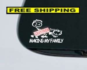 Family Decal Stick Figure Family Car Funny Parody Window Vinyl Sticker