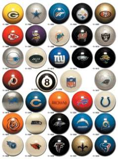 NEW YORK GIANTS NFL FOOTBALL POOL CUE BALLS~ 1 BALL~NEW