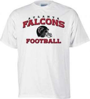 NEW Atlanta Falcons Tshirt Reebok Stacked Helmet L