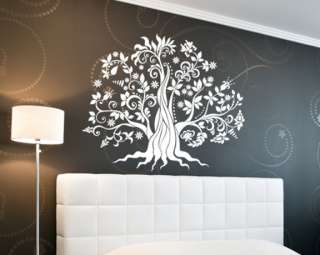 Vinyl Decal Wall Art  Tree with Roots