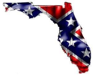 FLORIDA  TWO (2) Confederate Rebel Flag Vinyl Decals
