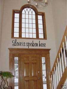 Love Is Spoken Here   Vinyl Wall Art Decals Words