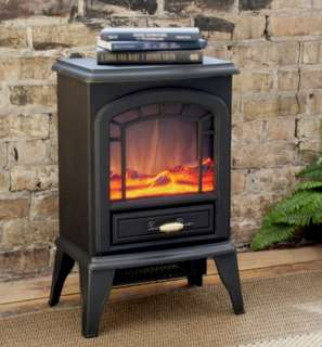 Standing Electric Stove Fireplace Heater Ventless 750   1500 Watts