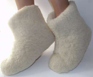 WINTER WARM SHEEPSKIN BOOTS/SLIPPERS 100% PURE SHEEP WOOL SHOES WOOLLY