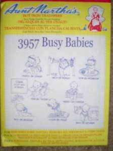 NEW EMBROIDERY IRON TRANSFER PATTERNS BUSY BABIES BABY