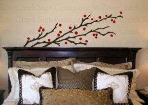 Tree Berries Art Vinyl Wall Lettering Words Decal