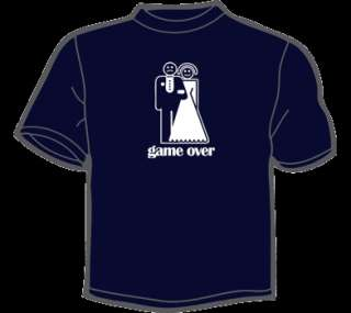 GAME OVER T Shirt WOMENS funny vintage marriage bride