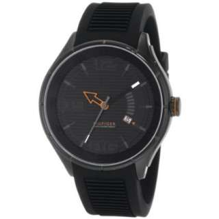 Tommy Hilfiger Mens 1790803 Sport Black IP Black Silicon Watch