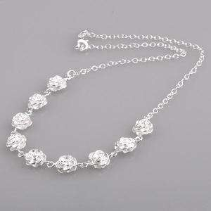 Sale fashion Jewelry new silver rose necklace Christmas present 134