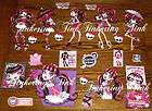 LARGE MONSTER HIGH WALL STICKERS SET DRACULAURA