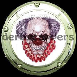 Evil Clown Harley Davidson Derby Cover Capper Custom Insert by