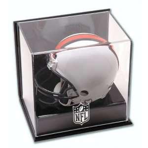 NFL Wall Mounted Mini Helmet Cube Logo Display Case