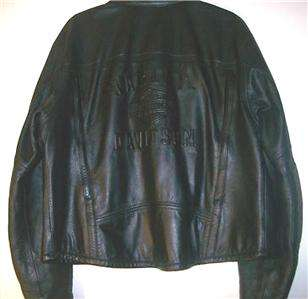 Harley Davidson Leather Jacket Embossed Vented Shifter Large