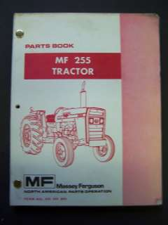 Massey Ferguson MF 255 Tractor Parts Catalog