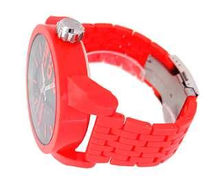 Diesel DZ1521 Black Round Dial Neon orange Plastic Mens Watch