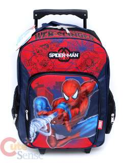 Marvel SpiderMan Large School Roller Backpack Lunch Bag Set  Web