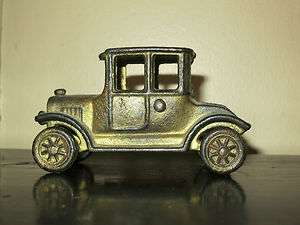 Cast Iron 1920s Model T Coupe Cast Iron Toy Car   Unmarked