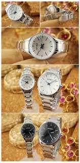 New Womens Fashion Stainless Steel Wrist Watch White