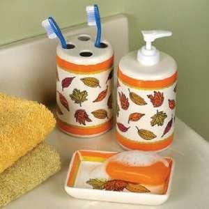 Thanksgiving Bath Bathroom Home Decor 3 Piece Pc Set Home & Kitchen
