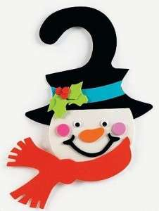 Snowman Craft Kit Foam Door Hanger Christmas Winter
