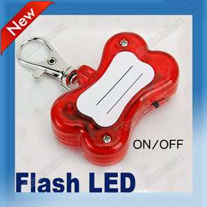 Adorable Red Pet Dog Cat Safety LED Flash Blink Light Tag Collar