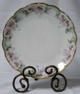 Austria 8 1/2 China Plate Pink Roses