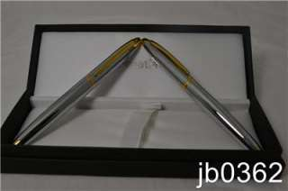 New 23K Gold & Silver Cross Lexington Pen & Pencil Gift Set Labeled
