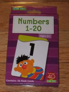 NEW SESAME STREET NUMBERS 1 20 36 Flash Cards BOXED