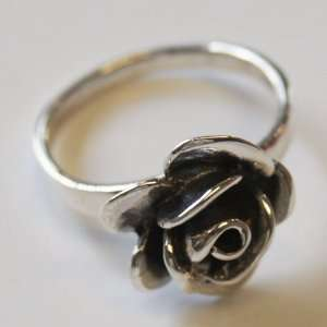 Thaimart Beautiful Rose Flower Ring 925 Sterling Silver