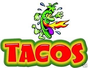 Tacos Restaurant Concession Food Vendor Truck Decal 14