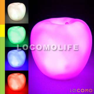 Color Changing LED Apple Baby Kid Mood Lamp Night Light