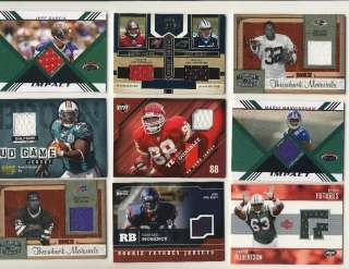 Lot of 100 Game Used Jersey & Relic Cards ROOKIES SHORT PRINTS