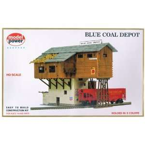 Model Power 453 HO Scale Blue Coal Depot Building Kit Toys & Games