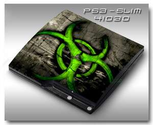 MADE IN USA   Sony PS3 Slim Skin (Graphic Decal) 41030 green