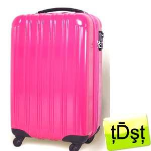 Multiwheel Travel Trolley Suitcase DA524 23 Rose Pink Purple Black