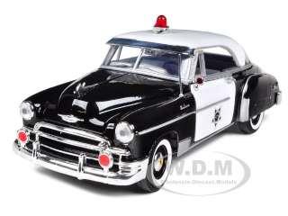 1950 CHEVROLET BEL AIR POLICE 124 DIECAST CAR MODEL BY MOTORMAX 76931