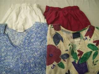 Medical Dental Scrubs Lot of 10 Printed Outfits Sets Size XL Extra