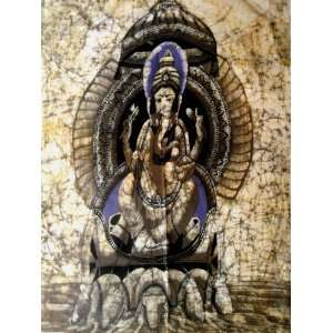 Indian God Ganesh / Ganesha Cotton Poster Fabric Tapestry