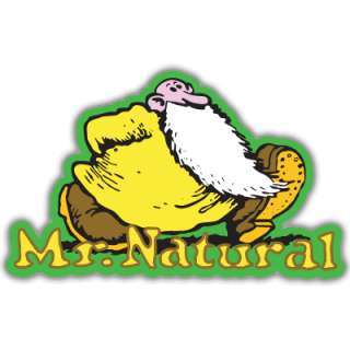 Mr. Natural Fred comic car bumper sticker decal 5 x 4