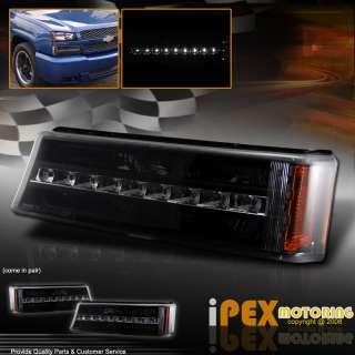 Silverado Pick Up Truck LED SMD STRIP Front Bumper Signal Light Lamp