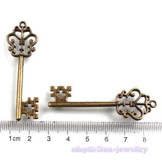 Antique Bronze Butterfly Key Pendants Lot 58x18mm Vintage Charm 141372