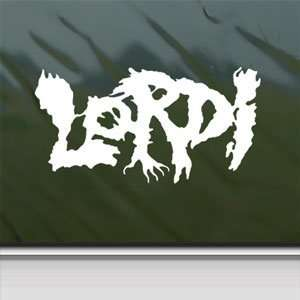 Lordi White Sticker Metal Rock Band Car Vinyl Window