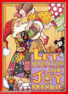 Mary Engelbreit Christmas Holiday Magnet Santa Joy