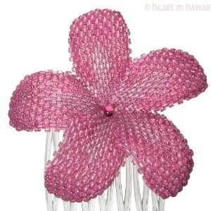 Plumeria Flower   transparent rose   Hawaiian flower hair comb Beauty