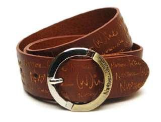 Men/Women Brown Genuine Leather Belt 30/32/34/36 Tan