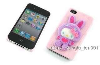 Sanrio Hello Kitty 3D Fluffy Bunny Rabbit iPhone 4 Case Cover Fu Wa