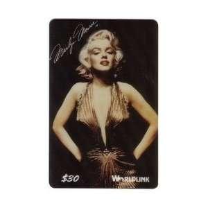30. Marilyn Monroe (Regular Issue) Gold V Cut Dress & Hands on Hips